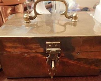BRASS HANDLED BOX