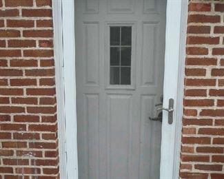 """White Storm Door 32"""" X 80"""" $25.00"""
