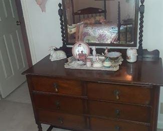 Dresser with barley twist legs