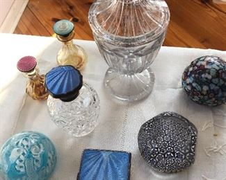 Enamel embellished items and paperweights