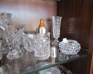 Yes that is a beautiful Crystal Baby Bottle we also have pewter baby rattles