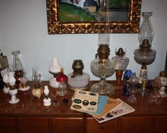 Collection of oil lamps