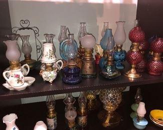 More antique oil lamps