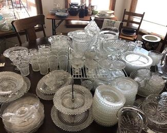 Massive collection of  Antique Miss America crystal