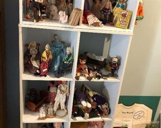 Lots of antique dolls