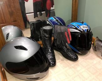 Nearly new motorcycle helmets