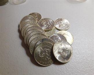 Unc. 1964 Kenndey Half Dollars