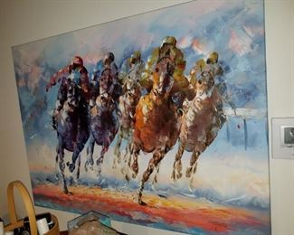 horse racing oil painting by Taylor