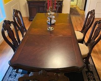 """Samuel Lawrence Dining Table &  6 Chairs Table Extends from 68"""" to 104"""""""