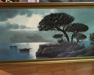 VERY NICE VINTAGE LARGE WALL OIL PAINTING.