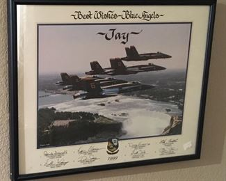 SIGNED BLUE ANGELS JET PRINT
