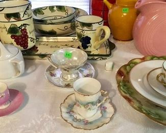 FINE QUALITY VINTAGE PORCELAIN, PLUS FIESTA PINK PITCHER.