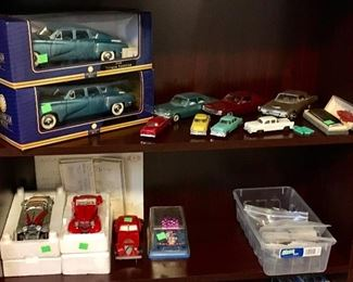 QUALITY DIECAST MINT IN BOX CARS, AND GREAT CONDITION PROMO CARS.
