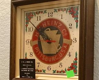 HEINZ CO. ADVERTISING CLOCK.