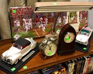 VINTAGE CLOCKS & MORE DIECAST CARS.