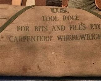 U.S. MILITARY CARPENTERS TOOL KIT ROLE.