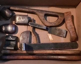 VINTAGE ANTIQUE AUTO BODY WORKING TOOLS