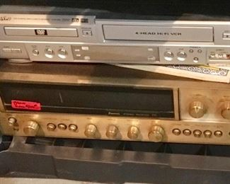 VINTAGE SANSUI AND VHS DVD DECK.