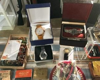 VINTAGE WATCHES, SOME NEW IN BOXES
