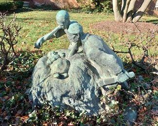Charles van Wijk signed statue