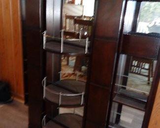 inside of a locking bar/liquor cabinet