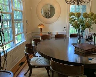 "Kreiss custom dining table 96"" diameter--chairs separate   $new 12,000.00  asking $1,800.00 or best"
