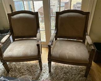 Kreiss chairs (2) Cushions excellent wood frame has  chips and scratches  $500.00/each