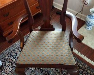 Henkel Mahogany Queen Anne Dining Chair (1 of 8)