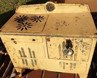 Antique Toy Stove Electric