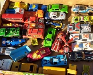 Lots Of Vintage 1960's and 70's Hot Wheels and Matchbox Vehicles
