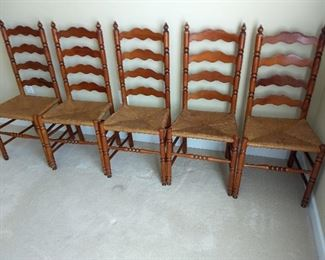5 Ladder Back Chairs