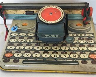 Childs Antique Toy Typewriter