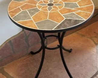 Mosaic Ceramic and metal indoor/outdoor side table