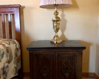 Nice bedside table and lamp