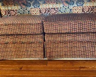 2 upholster foot stools