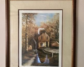 Mill picture; signed and numbered  Sherry Masters  210/1000