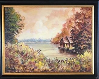 Beautiful signed painting  Patrick D. Kane