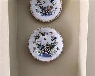 Vintage china plates signed