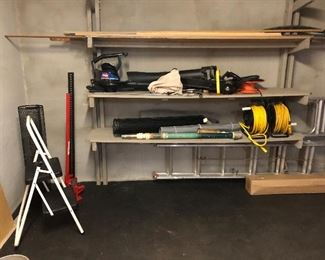 Turo Super blower/vac , extension cords, hedge trimmer step stool, high lift jack and more!
