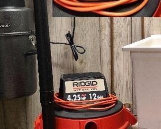 Ridgid Wet Dry Vac; 4.25 HP, 12 Gal