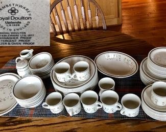 Royal Doulton Lomethware 'Uplands' 70 Pieces