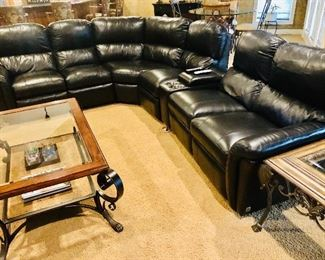 Absolutely perfect leather sectional