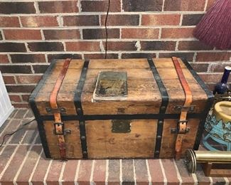 1OF SEVERAL ANTIQUE TRUNKS