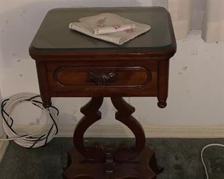 1 OF MANY ANTIQUE SIDE TABLES