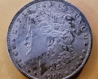 1900 tested silver dollar