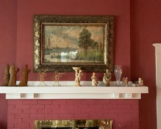 BEAUTIFUL ITEMS ON MANTLE