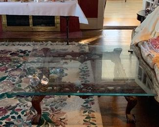 LARGE TABLE WITH GLASS TOPS