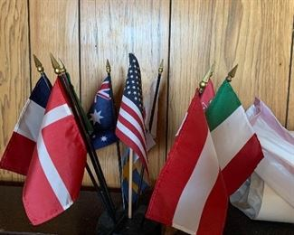 FLAGS AND HOLDER