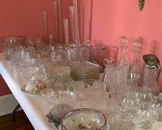 LOADS OF CUT ND PRESSED GLASS