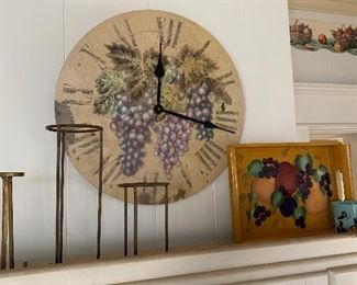 FANCY GRAPE CLOCK AND MORE